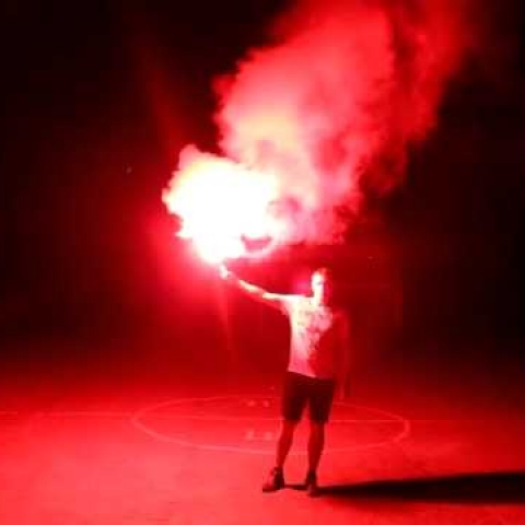 red hand flare